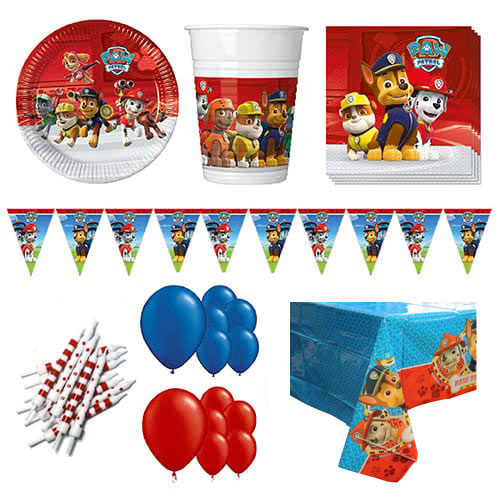 Paw Patrol Theme 16 Person Deluxe Party Pack