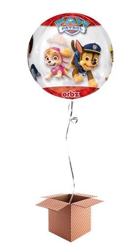 Paw Patrol Chase and Marshall Clear Orbz Balloon - Inflated Balloon in a Box Product Image
