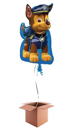 Paw Patrol Chase Helium Foil Giant Balloon - Inflated Balloon in a Box Product Image