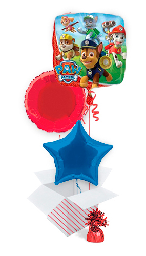 Paw Patrol Foil Helium Balloon Bouquet - 3 Inflated Balloons In A Box Product Image