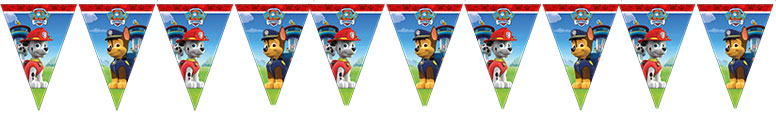 Paw Patrol Party Plastic Flag Bunting 230cm Product Image