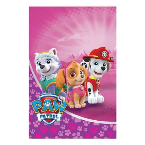 Paw Patrol Pink Loot Bags - Pack of 8