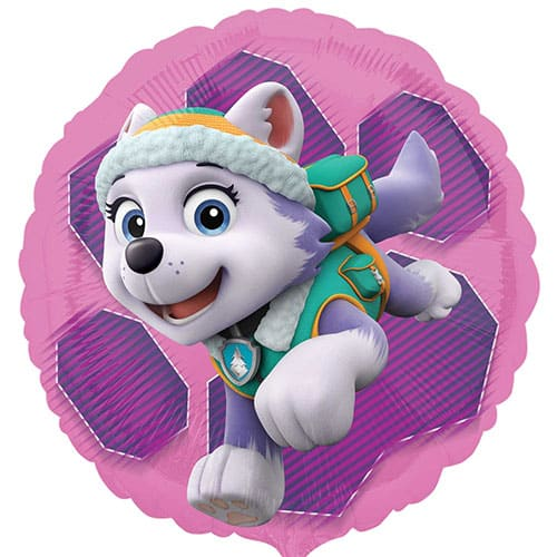 Paw Patrol Pink Skye And Everest Round Foil Helium Balloon 43cm / 17Inch Product Image