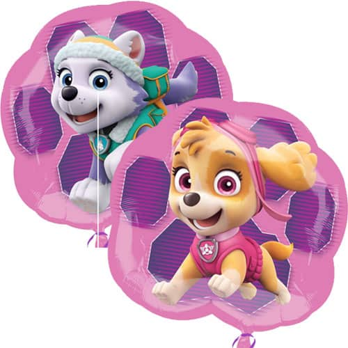 Paw Patrol Pink Skye And Everest Helium Foil Giant Balloon 63cm / 25 in Product Image