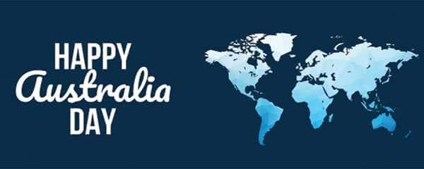 Happy Australia Day World Map Design Small Personalised Banner - 4ft x 2ft