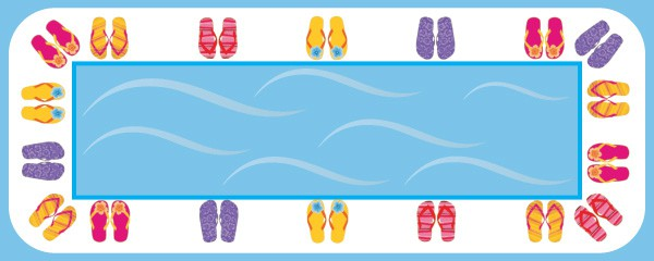 Flip Flop Party Happy Birthday Design Small Personalised Banner - 4ft x 2ft