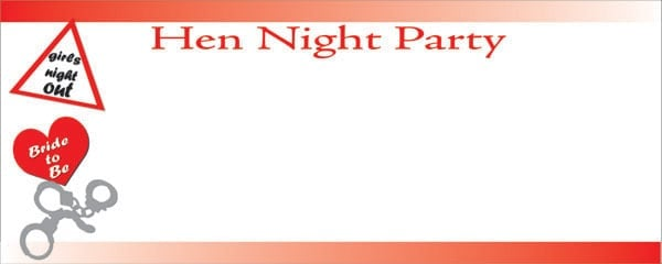 Special Hen Night Party Medium Personalised Banner - 6ft x 2.25ft