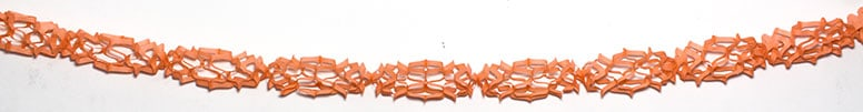 Peach Colour Honeycomb Paper Garland Decoration - 4m - Pack of 2 Product Image