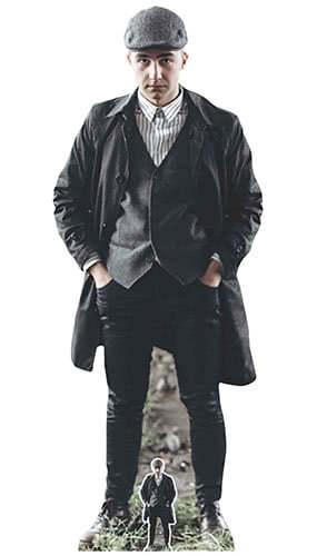 Peaky Blinders Style British Gangster Flat Cap Lifesize Cardboard Cutout 182cm Product Image