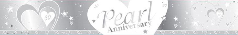 Pearl 30th Anniversary Foil Banner 2.74m
