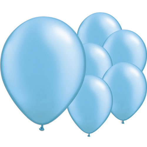 Pearl Azure Blue Round Latex Qualatex Balloons 28cm / 11 in – Pack of 100 Product Image