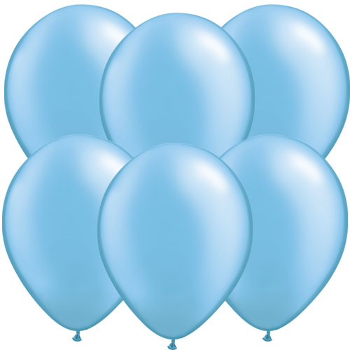 Pearl Azure Blue Round Latex Qualatex Balloons 28cm / 11 in – Pack of 10 Product Image