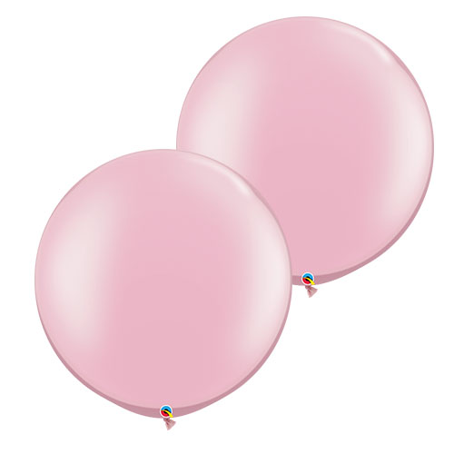 Pearl Pink Round Jumbo Latex Qualatex Balloons 76cm / 30 in - Pack of 2 Product Image