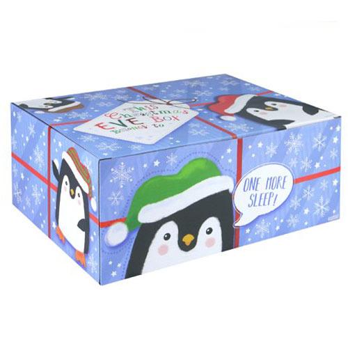 Penguin Christmas Eve Gift Box 35cm
