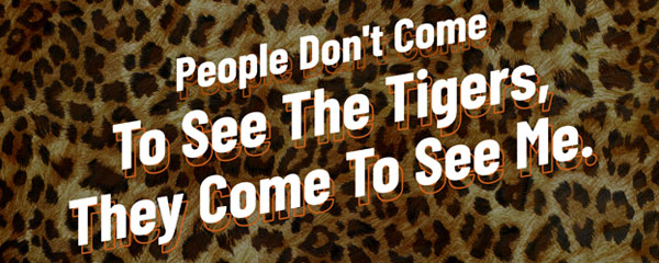 People Come to See Me Leopard Print Tiger Kingdom PVC Party Sign Decoration 60cm x 25cm Product Image
