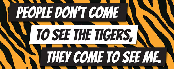 People Come to See Me Tiger Kingdom Print PVC Party Sign Decoration 60cm x 25cm Product Image