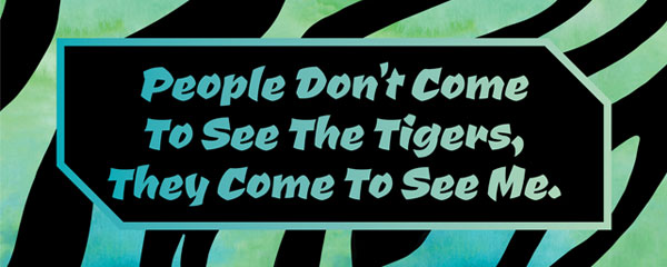 People Come to See Me Zebra Print Tiger Kingdom PVC Party Sign Decoration 60cm x 25cm Product Image