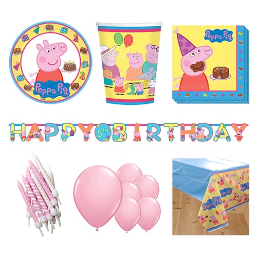 Peppa Pig 8 Person Deluxe Party Pack
