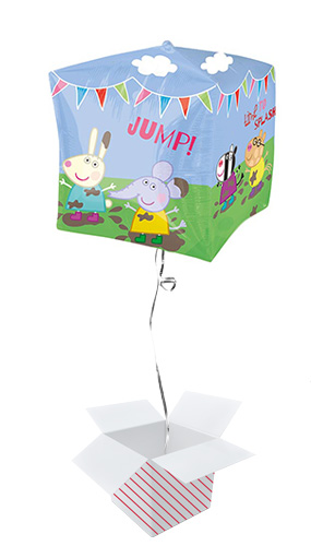 Peppa Pig & Friends Cubez Foil Helium Balloon - Inflated Balloon in a Box Product Gallery Image
