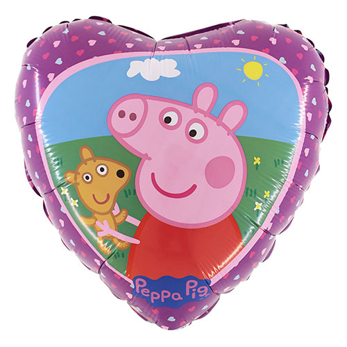 Peppa Pig and Teddy Foil Helium Balloon 46cm / 18 in Product Image
