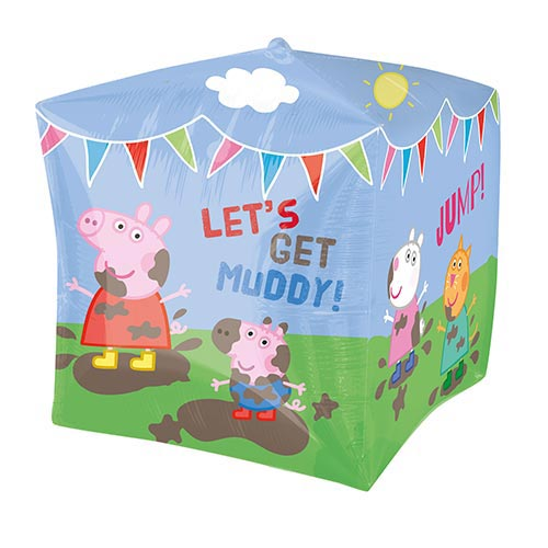 Peppa Pig & Friends Cubez Foil Helium Balloon 38cm / 15 in Product Image