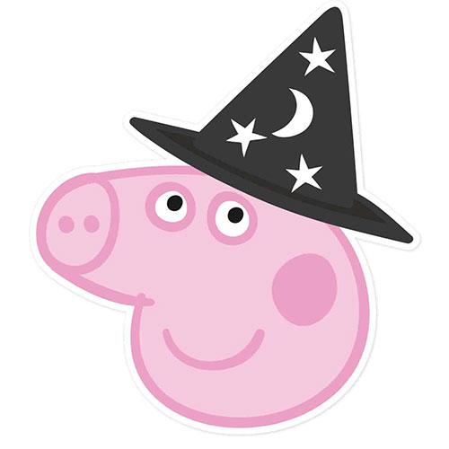 Peppa Pig Halloween Cardboard Face Mask