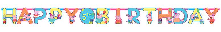 Peppa Pig Happy Birthday Jumbo Add-An-Age Letter Banner 3.2m