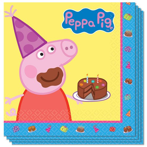 Peppa Pig Luncheon Napkins 33cm 2Ply - Pack of 16 Product Image