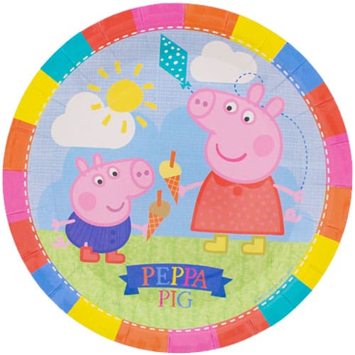 Peppa Pig Paper Plate - 9 Inches / 23cm