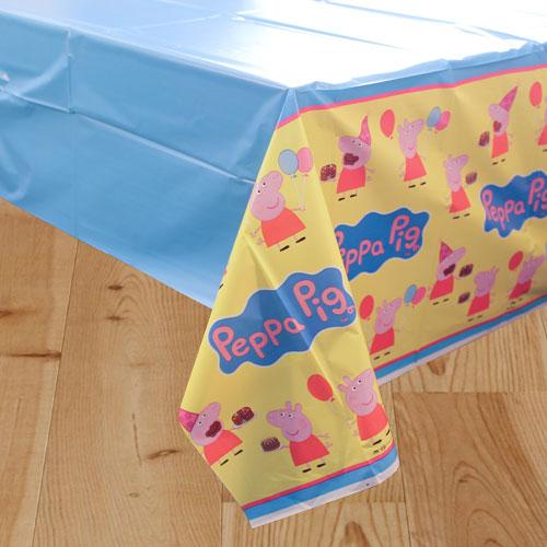 Peppa Pig Plastic Tablecover 243cm x 137cm