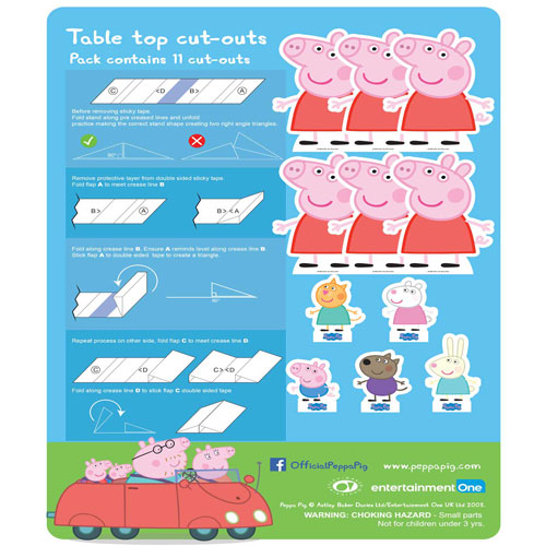 Peppa Pig Table Top Cutout Decorations - Pack of 11 Product Gallery Image