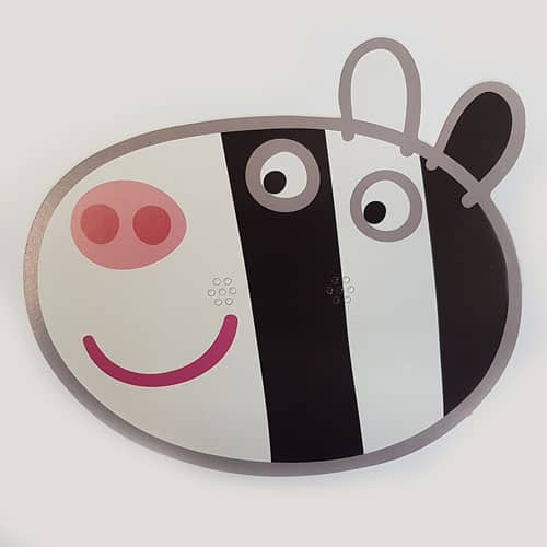 Peppa Pig Zoe Zebra Cardboard Face Mask Product Image