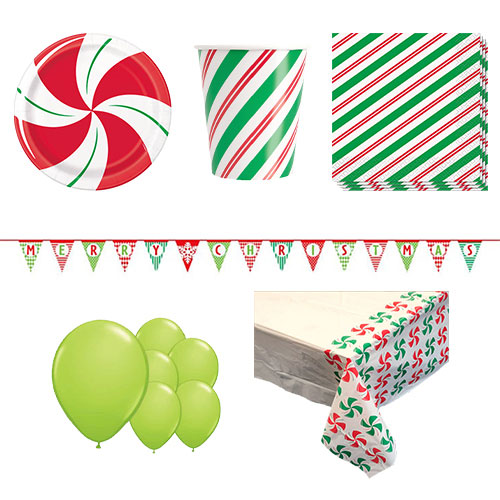Peppermint Christmas 8 Person Deluxe Party Pack