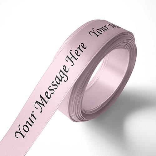 Personalised 15mm Baby-Pink Ribbon Elan Single Faced Satin