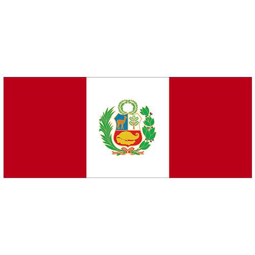 Peru Flag PVC Party Sign Decoration 60cm x 24cm Product Image