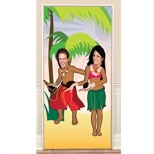 Photo Fun Hawaiian Door Poster 181cm
