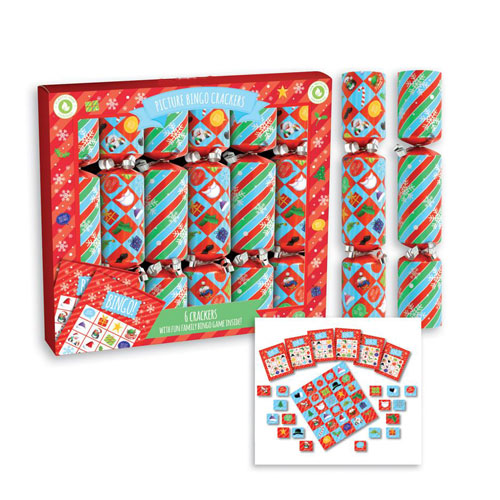 Picture Bingo Christmas Crackers 23cm / 9 in - Pack of 6 Product Image