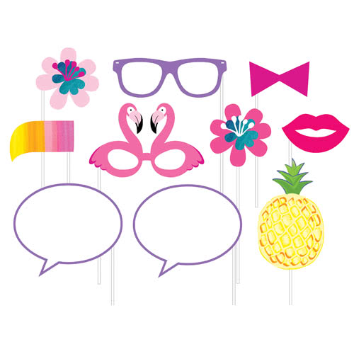 Pineapple And Friends Photo Booth Props - Pack of 10