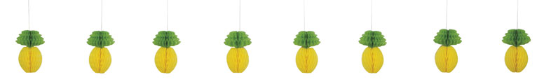 Pineapple Hanging Decoration Honeycomb Garland 213cm Product Image