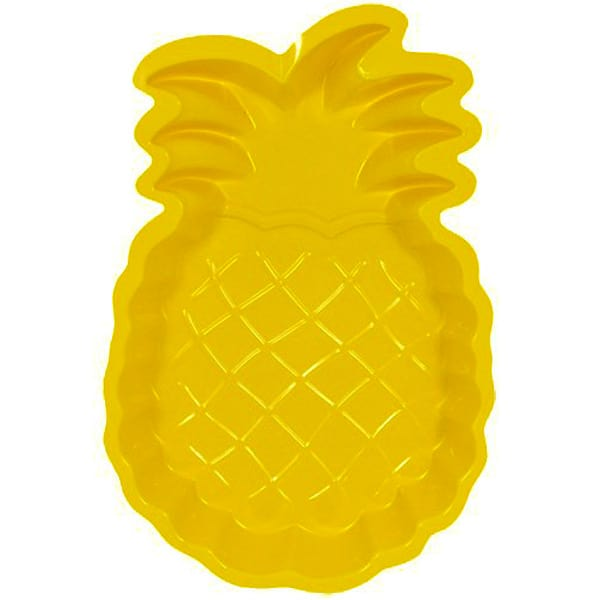 Pineapple Shape Plastic Snack Tray - 13 Inches / 33cm