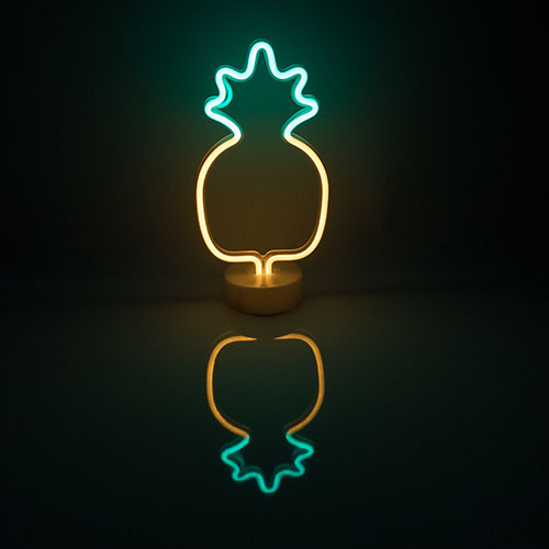 Pineapple Shaped Neon Standing Light Centrepiece Table Decoration 33cm Product Image