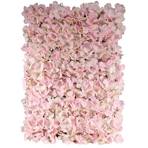 Pink Artificial Hydrangea Silk Flower Wall Panel 60cm x 40cm Product Image