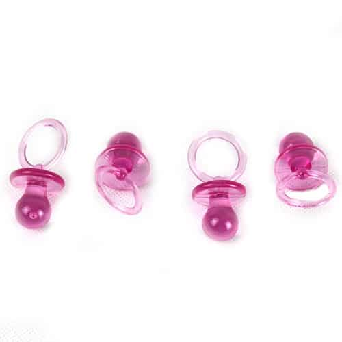 Pink Baby Shower Theme Baby Crystal Pacifiers - Pack of 4 Product Image