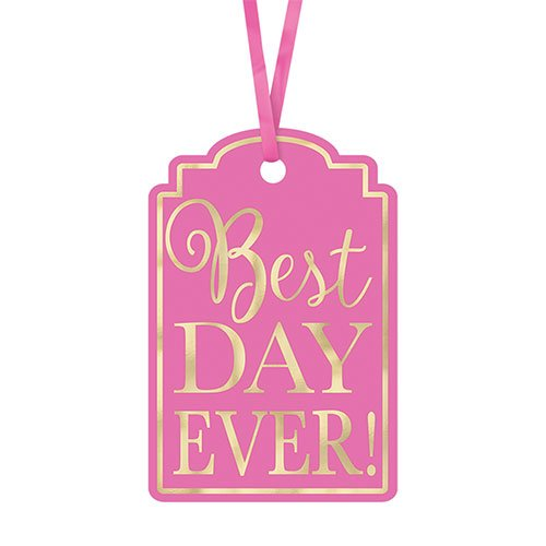 Pink Best Day Ever! Tags - Pack of 25 Product Image