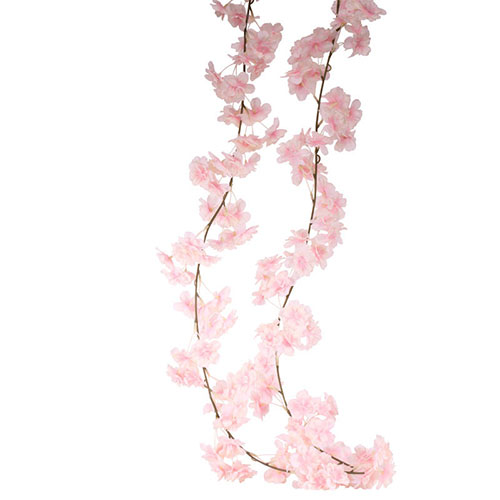 Pink Blossom Artificial Silk Flowers Garland 210cm Product Image