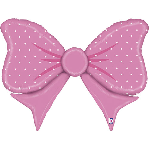 Pink Bow Helium Foil Giant Balloon 109cm / 43 in
