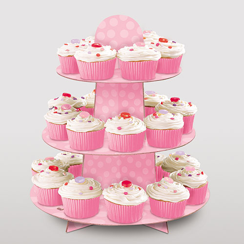 Pink Cupcake Stand Product Gallery Image