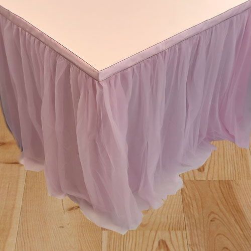 Pink Deluxe Tulle Table Skirt 180cm x 80cm Product Image