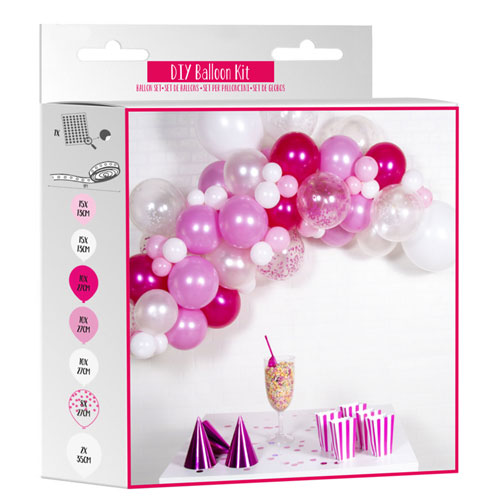 Pink DIY Garland Balloon Arch Kit Product Gallery Image