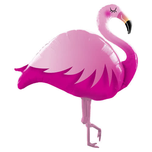 Pink Flamingo Shaped Helium Foil Giant Qualatex Balloon 117cm / 46 in Product Image